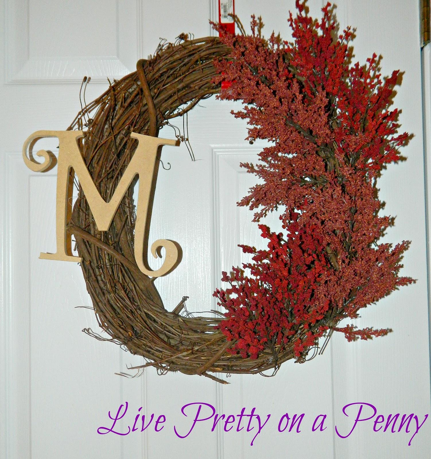 Easy Fall Wreath DIY Tutorial | Live Pretty on a Penny