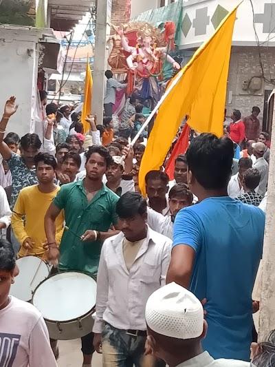 खनियाधाना में धूमधाम से निकाली श्री गणेश विसर्जन यात्रा | Khaniyadhana News