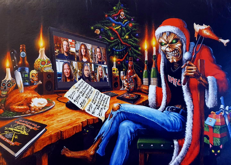 Merry Christmas! Veja cartão de natal oficial do Iron Maiden 2020