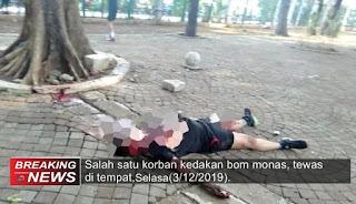 Korban Ledakan di Monas