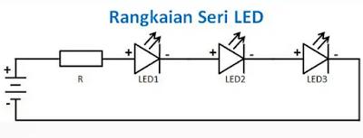 Cara Merangkai Lampu LED Secara Seri