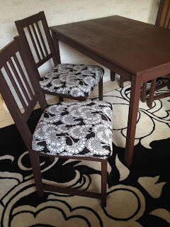 Judit Gueth IKEA hack with Stefan chairs and unfinished table