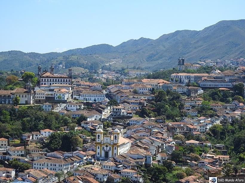 Ouro Preto vista do mirante - Passeio de jardineira em Ouro Preto