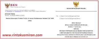 Skema Penerapan Prokes Covid-19 dalam Pelaksanaan Seleksi CAT BKN 2021