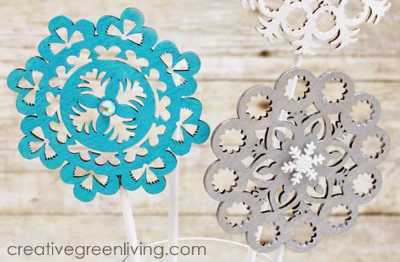 easy to make frozen centerpieces for a Disney Frozen party