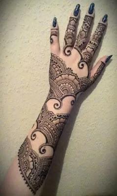Full arm Mehandi design