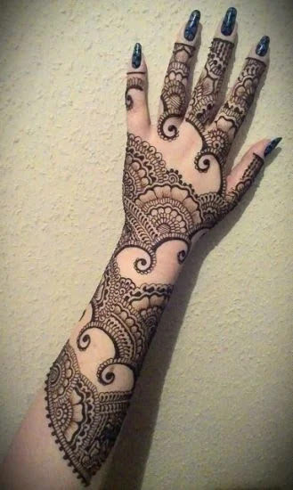 Full arm Mehandi design