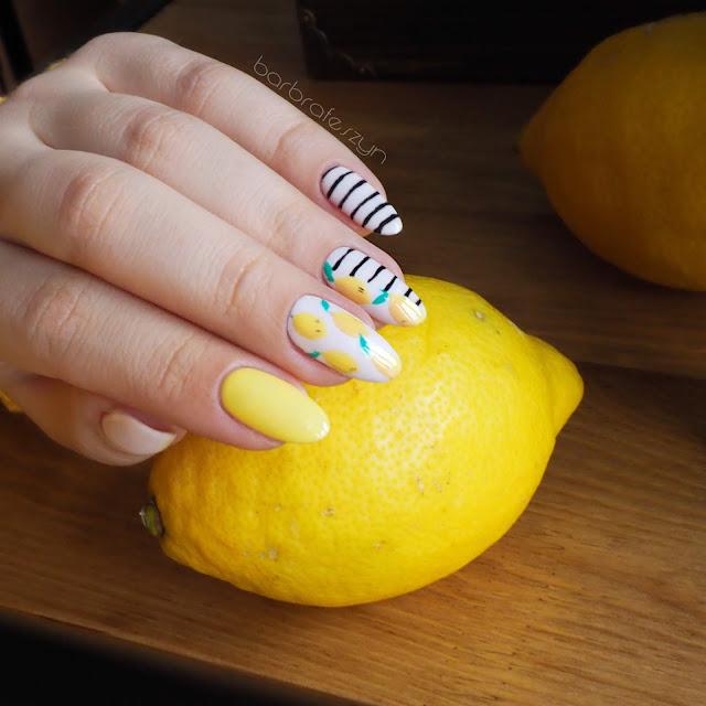 paznokcie w cytryny