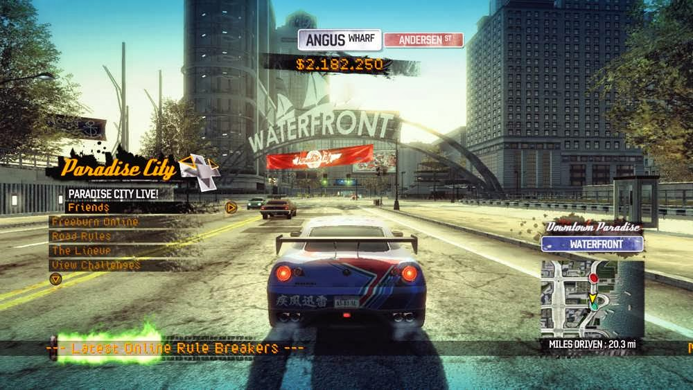 DEMO: Burnout Paradise Top 10 Best Action and Racing Games