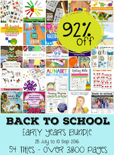 Back to school bundle of printables and ebooks