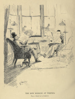 The bow window at White's from The History of White's by Hon Algernon Bourke (1892)