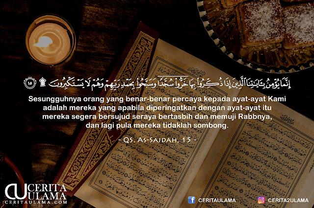 Kutipan Qur'an - Surah As-Sajdah, Ayat 15