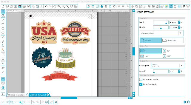 Silhouette Studio, Silhouette tutorial, trace and detach tool, print and cut
