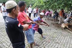 Rayakan Idul Adha bersama Masyarakat Langkat, Ijeck Sembelih Hewan Kurban