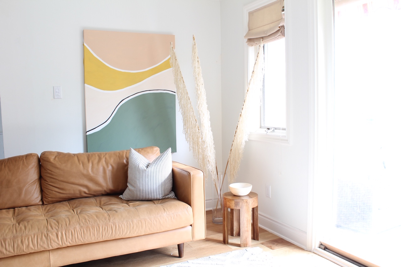 DIY Faux Pampas Grass with Yarn