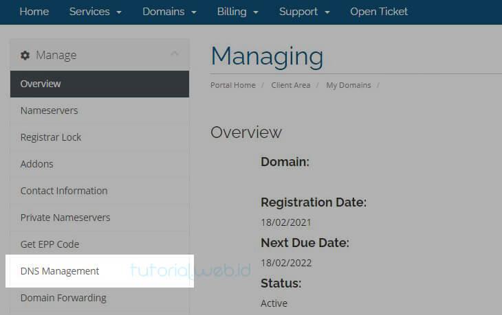 Cara Memverifikasi Kepemilikan Domain Rumahweb 3 Pilih DNS
