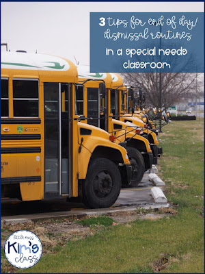 End of day/ dismissal tips for special education