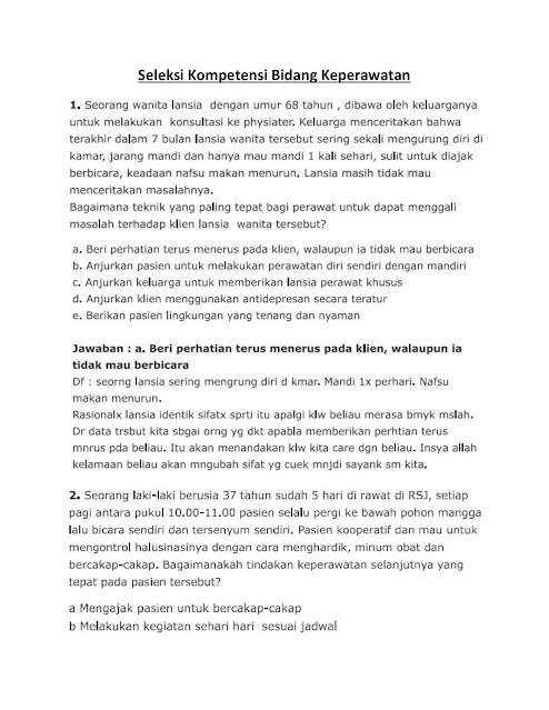 Download Soal SKB Perawat CPNS 2021/2022