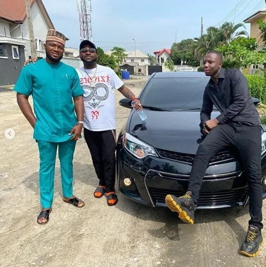 Popular Nigerian musician, David Adeleke, popularly known as Davido buys brand new car for a member of his crew