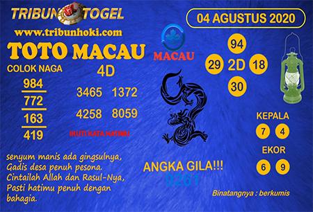 Prediksi Tribun Togel Macau Selasa 04 Agustus 2020