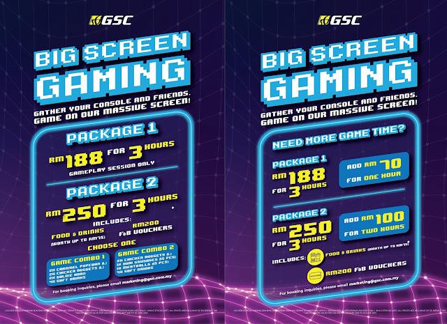 Anda Kini Boleh Bermain Video Games Di Panggung Wayang GSC Dan TGV