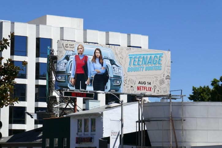 Teenage Bounty Hunters series launch billboard