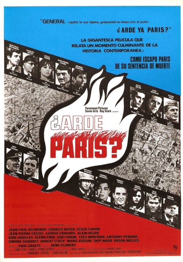 Cartel español de '¿Arde París? (1966)'