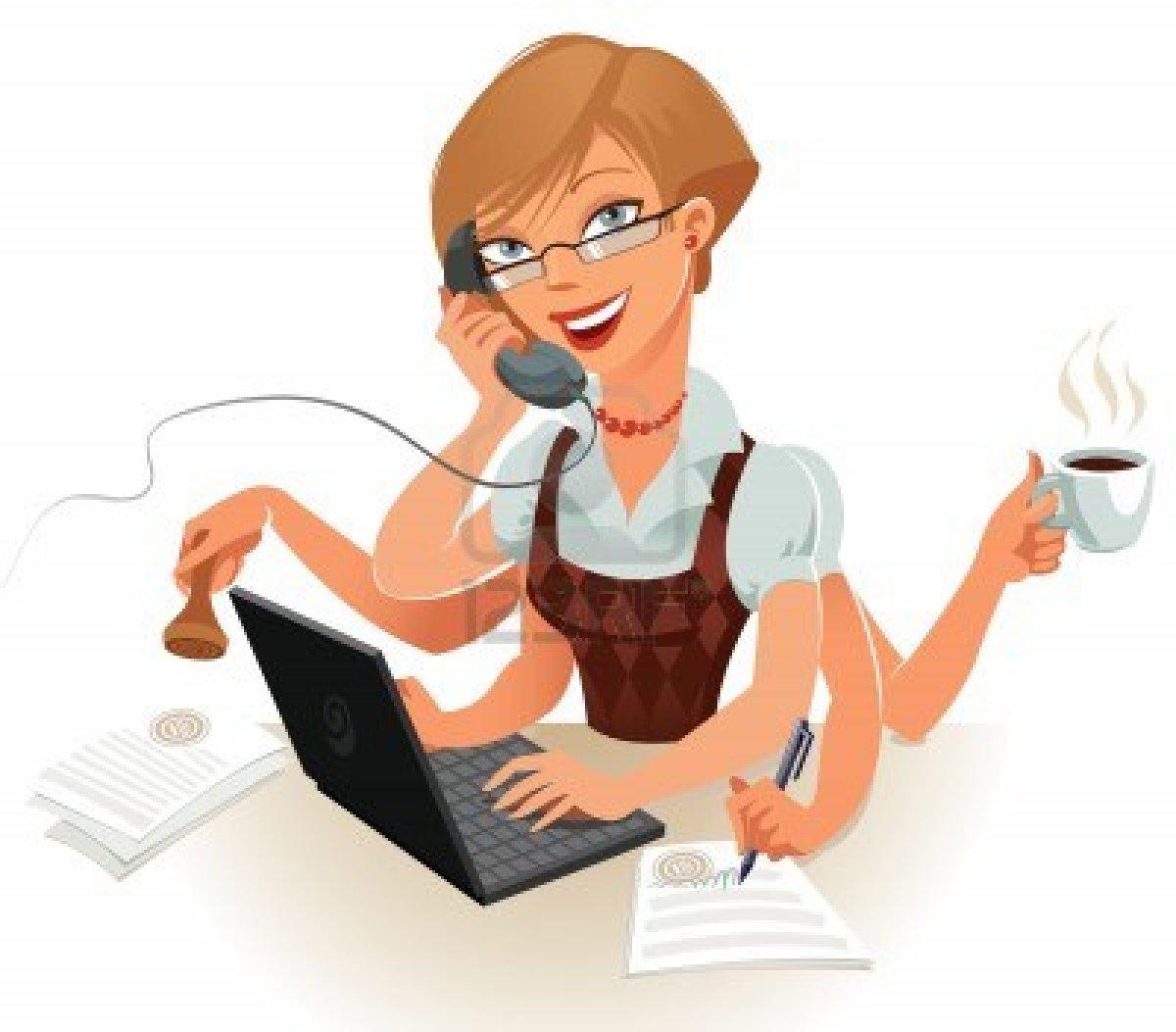 Cartoon Receptionist Clipart