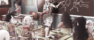 Header image of children in a classroom learning about comics