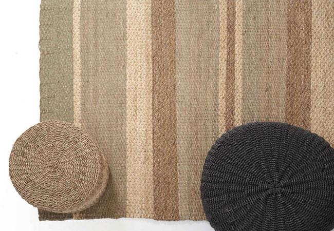 Καλοκαιρινό Ψάθινο Χαλί: Mikam 353 Natural-Grey Royal Carpet