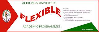 Achievers University Flexible (Part-Time) Degree Form 2020/2021