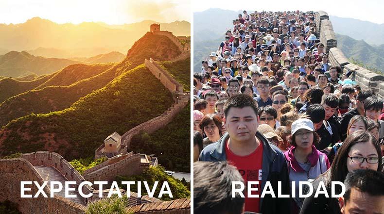 Las expectativas de las vacaciones Vs la Realidad