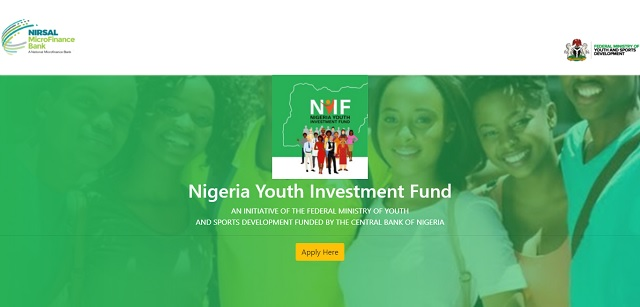 Nigeria Youth Investment Fund (NYIF) Application Form Registration Portal - www.nyif.nmfmb.com.ng