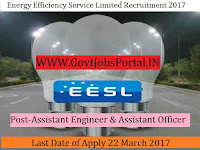 Energy Efficiency Service Limited Recruitment 2017–Assistant Engineer, Assistant Officer