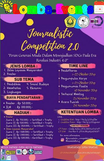 Lomba Video Dan Poster Jurnalistik Nasional 2.0 Unej 2019 Mahasiswa