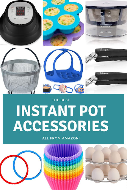 These are my must have Instant Pot accessories.  I use these products all the time!  If you are a new Instant Pot user or a seasoned one, these are the best things to buy to get the most out of your Instant Pot.  These are all available on Amazon and most are under $20.  This has metal and silicone accessories.  Use these to make more recipes and learn how to use them for your cooking. #instantpot #accessories