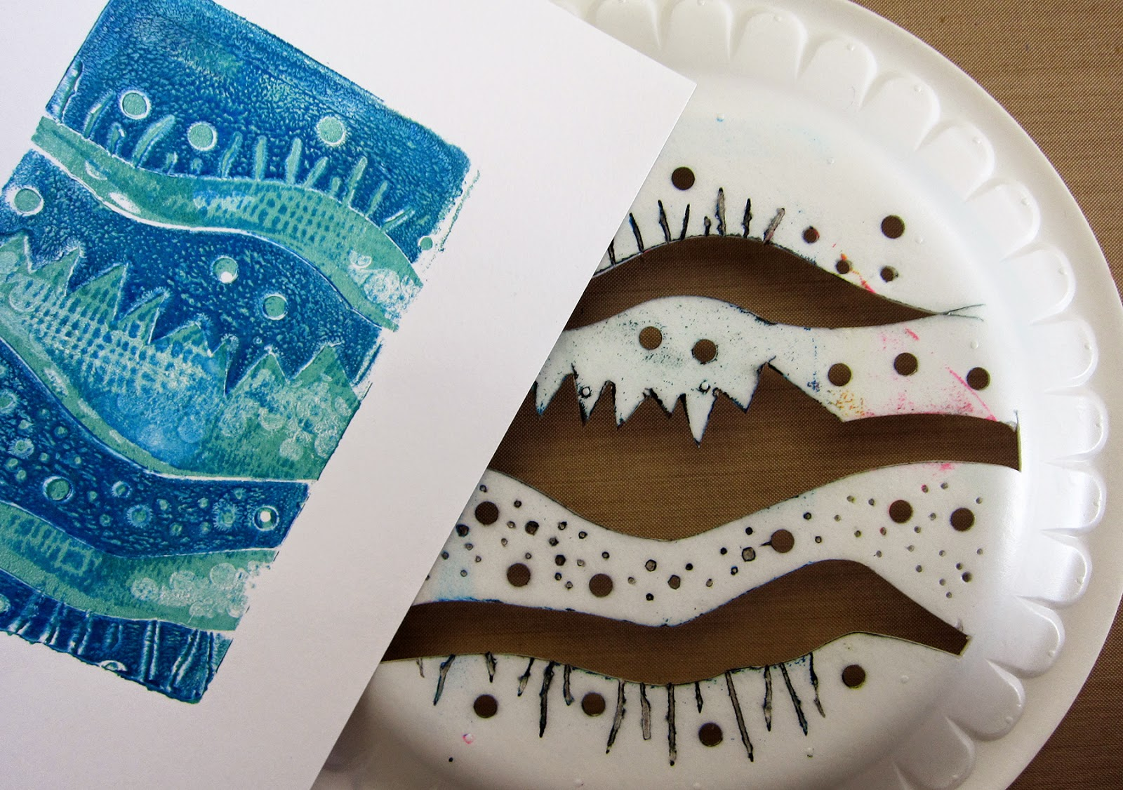 printing with gelli arts august 2014. Black Bedroom Furniture Sets. Home Design Ideas