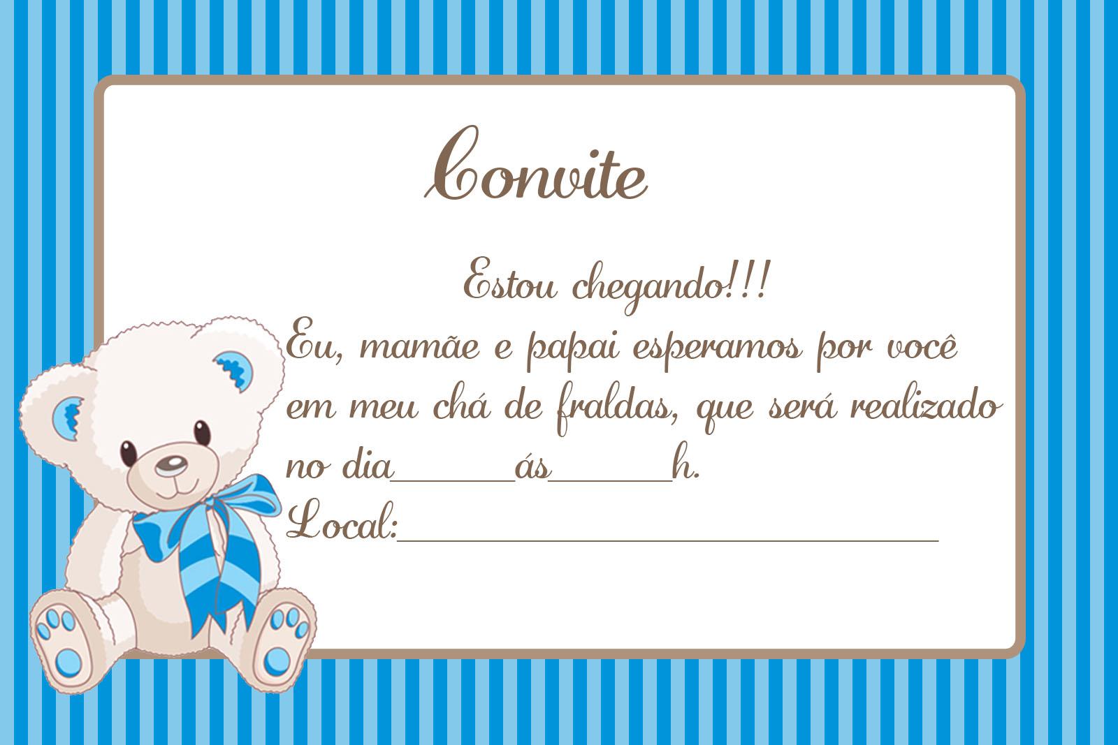 Convites Para Chá De Bebê Editáveis Grátis Para Baixar Editar E