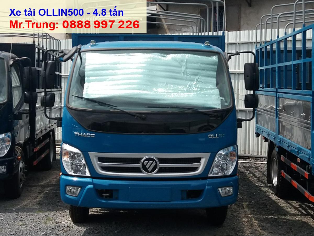xe-tải-thaco-ollin-500-thùng-bạt-tải-trọng-5-tấn-thùng-dài-4.35-mét