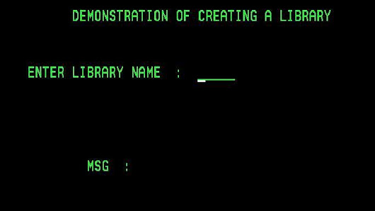 How to Create Library in AS400