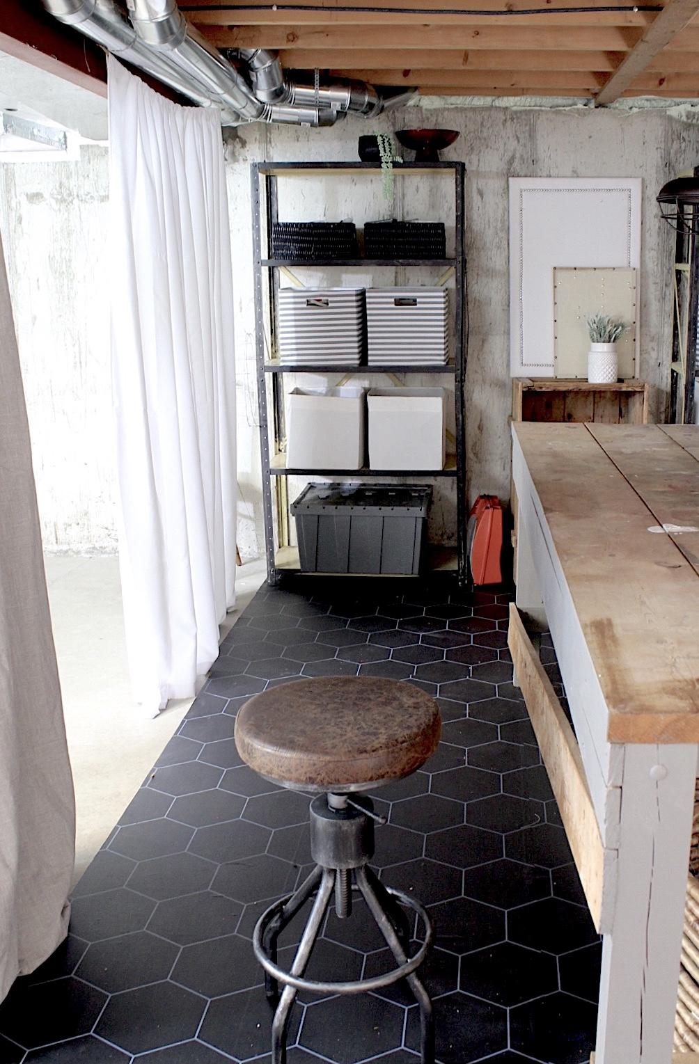Create an Atelier Art Studio in an Unfinished Basement