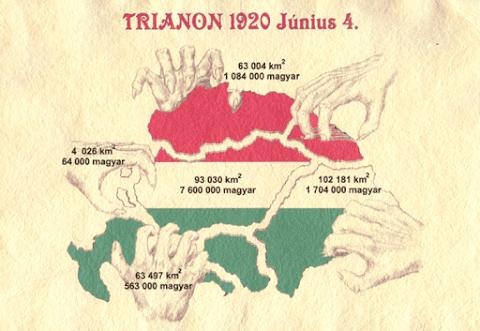 A magyarság semmihez nem hasonlítható tragédiája Trianon...