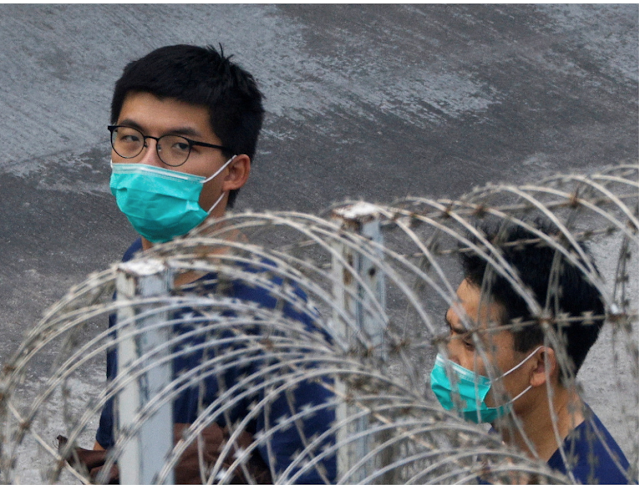 Hong Kong imprisoned activist Joshua Wong accused of breaching the latest security law of the region.