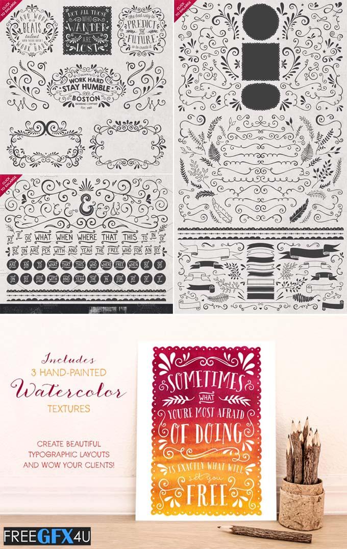 DIY Decorative Typography Pack