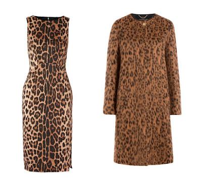 Платье и пальто с леопардовым принтом для Теплого цветотипа