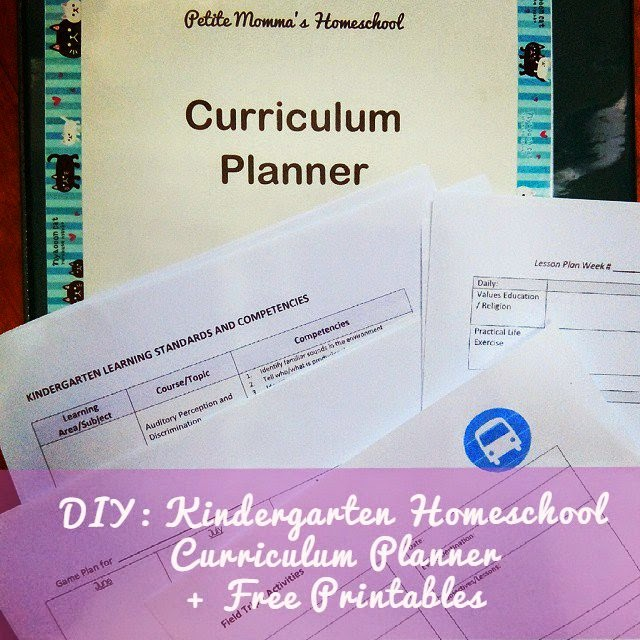 DIY Kindergarten Homeschool Curriculum Planner + Free Printables