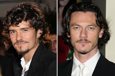 orlando bloom y su doble Luke Evans