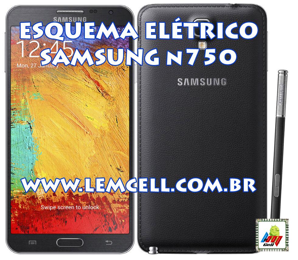 Lemcell Tutoriais Esquema Eltrico Tablet Smartphone Samsung Galaxy Note 3 Circuit Diagram Neo Sm N750 Manual De Servio Service