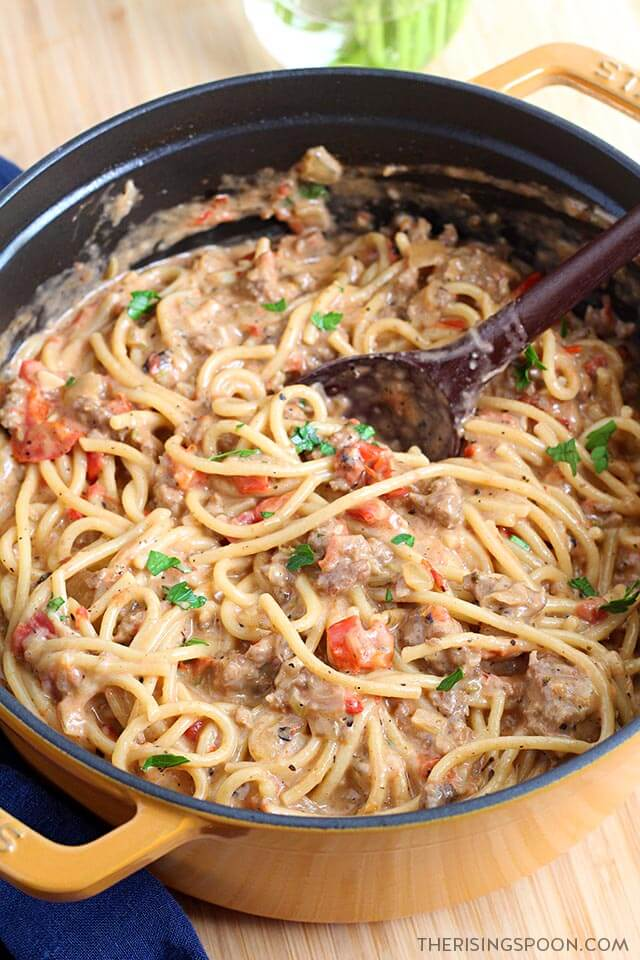Easy Comfort Food Recipe: Creamy One-Pot Spaghetti with Italian Sausage