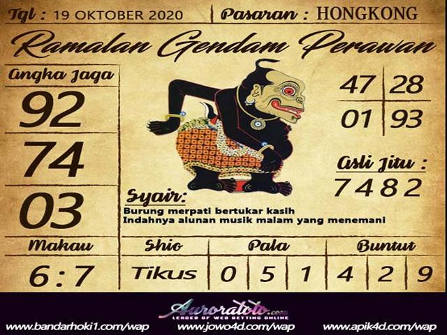 Kode syair Hongkong senin 19 oktober 2020 200